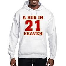 (21) A HOG IN HEAVEN Hoodie Sweatshirt