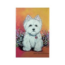 West Highland White Portrait Rectangle Magnet