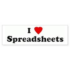 I Love Spreadsheets Bumper Bumper Sticker