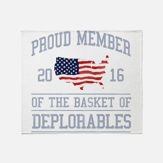 Basket of Deplorables Throw Blanket