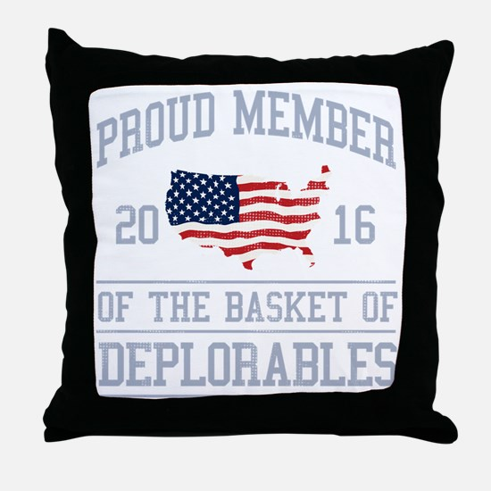 Basket of Deplorables Throw Pillow