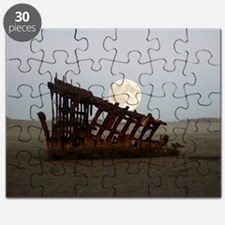 Full Moon Over Peter Iredale Puzzle