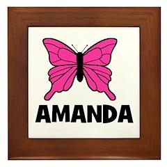 Butterfly - Amanda Framed Tile