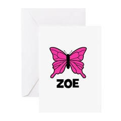 Butterfly - Zoe Greeting Cards (Pk of 10)