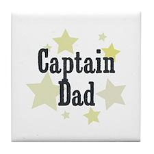Captain Dad Tile Coaster