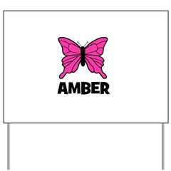 Butterfly - Amber Yard Sign