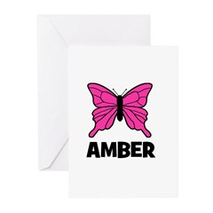 Butterfly - Amber Greeting Cards (Pk of 10)