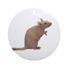 Curly - the Hairless Rat Keepsake (Round)