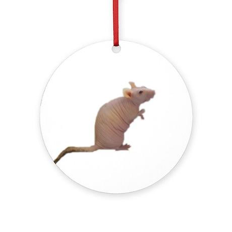 Curly - the Hairless Rat Keepsake (Round)