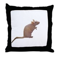Curly - the Hairless Rat Throw Pillow