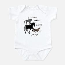 Dressage Movements Trio Infant Bodysuit