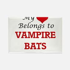 My heart belongs to Vampire Bats Magnets