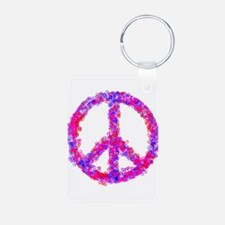 Star-Spangled Peace Sign Keychains