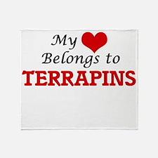 My heart belongs to Terrapins Throw Blanket