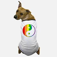 Rainbow Yin Yang Dog T-Shirt