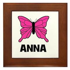 Butterfly - Anna Framed Tile
