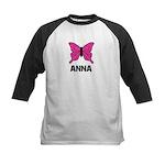 Butterfly - Anna Kids Baseball Jersey