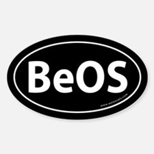 BeOS Bumper Sticker -Black (Oval)