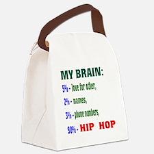 My Brain, 90% Hip Hop . Canvas Lunch Bag