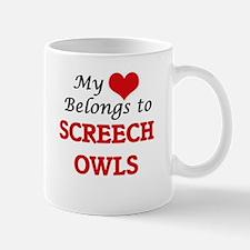 My heart belongs to Screech Owls Mugs