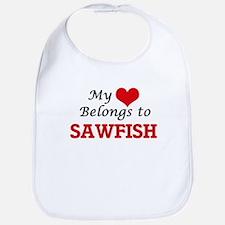 My heart belongs to Sawfish Bib