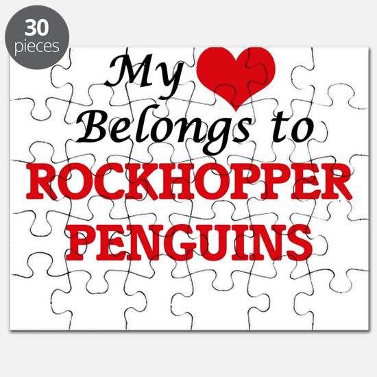 My heart belongs to Rockhopper Penguins Puzzle