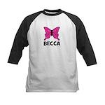 Butterfly - Becca Kids Baseball Jersey