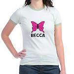Butterfly - Becca Jr. Ringer T-Shirt