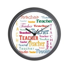 Teacher Teacher Teacher Wall Clock