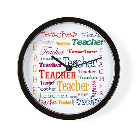 Teacher Teacher Teacher Wall Clock