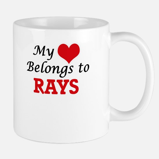 My heart belongs to Rays Mugs