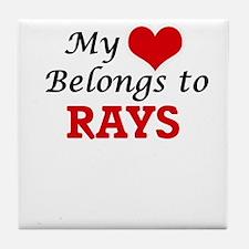 My heart belongs to Rays Tile Coaster