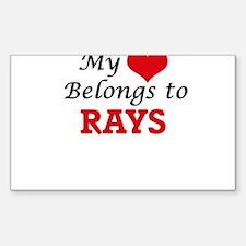 My heart belongs to Rays Decal