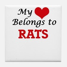 My heart belongs to Rats Tile Coaster