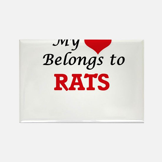 My heart belongs to Rats Magnets