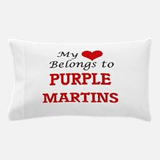 My heart belongs to Purple Martins Pillow Case