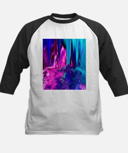 Melted Glitch (Pink & Teal) Baseball Jersey