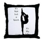 Gymnastics Throw Pillow - Life