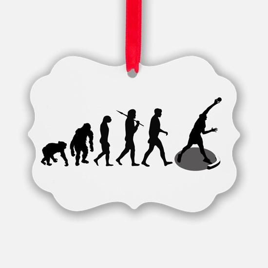 Shot Put Evolution Ornament