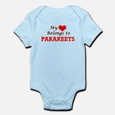 My heart belongs to Parakeets Body Suit