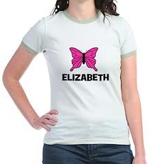 Butterfly - Elizabeth Jr. Ringer T-Shirt