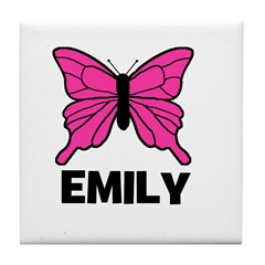 Butterfly - Emily Tile Coaster