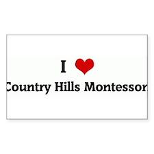I Love Country Hills Montesso Sticker (Rectangular