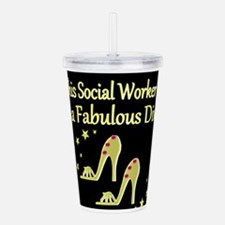 SOCIAL WORK Acrylic Double-wall Tumbler