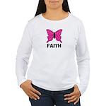 Butterfly - Faith Women's Long Sleeve T-Shirt