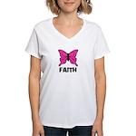 Butterfly - Faith Women's V-Neck T-Shirt