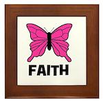Butterfly - Faith Framed Tile