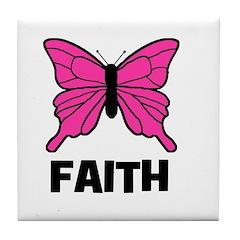 Butterfly - Faith Tile Coaster