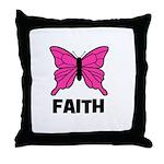 Butterfly - Faith Throw Pillow