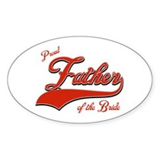 Father of the bride Oval Decal